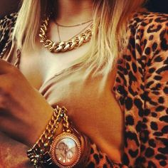 Leopard and gold..