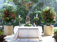 Casamento no campo - altar