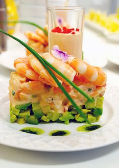 Shrimp & Avocado Salad with Rhode Island Sauce