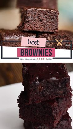 Beet Brownies are a decadent brown butter brownie recipe with a smooth buttermilk roasted beet puree mixed into the batter. Chocolate Beet Cake, Gluten Free Chocolate Cake, Chocolate Flavors, Chocolate Chips, Dark Chocolate Brownies, Black Bean Brownies, Flourless Chocolate Cakes, Baking Chocolate, Chocolate Cheesecake