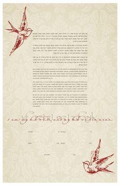 Ketubah  Tattoo Lovebirds. I am my beloved's and my beloved is mine.,
