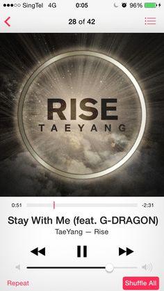 태양 RISE album  Special feat GDragon.
