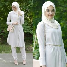 How to wear shirt dress with hijab – Just Trendy Girls Islamic Fashion, Muslim Fashion, Modest Fashion, Hijab Fashion, Fashion Hub, Fasion, Modest Dresses, Modest Outfits, Chic Outfits