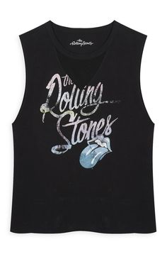 Black Rolling Stones T-Shirt