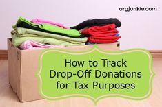 donating goods prior to a move