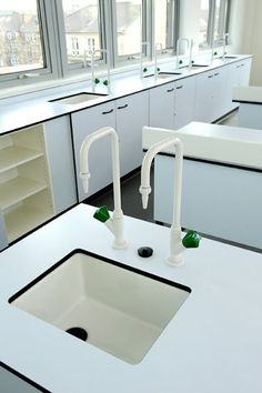 An installation of ASSAB Lab units in a university environment Wall Bench, Architectural House Plans, Industrial Office, Design Lab, Retail Design, Furniture Design, Sink, Interior Design, Holistic Education