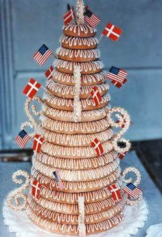 TRADITIONAL DANISH KRANSEKAGE – MARZIPAN CAKES AND COOKIES