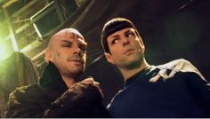 Zach and his big brother Joe Quinto in his Romulan makeup for STXI, 2009.