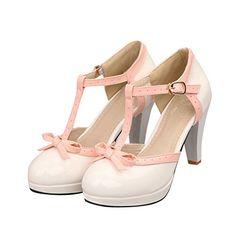 Carol Shoes Fashion T Strap Bows Womens Platform High Hee... https://www.amazon.com/gp/product/B00JC4AQZ4/ref=as_li_qf_sp_asin_il_tl?ie=UTF8&tag=rockaclothsto-20&camp=1789&creative=9325&linkCode=as2&creativeASIN=B00JC4AQZ4&linkId=02f2c0ef51345dc0cad402009cdbc2bb
