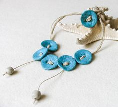 Turquoise Art Jewelry Set of Bohemian Necklace by totalhandmadeD, $30.00