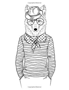1000 Images About Adult Coloring Pages Animals On