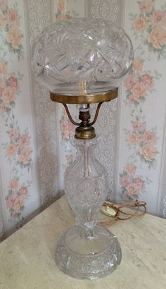 Decadent 1920s gilt wood base lamp stand with a fabulous shade pretty 1930s italian cut glass table lamp needs rewiring for the uk 220 keyboard keysfo Images