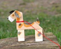 Kostenlose Bastelvorlage: Hund aus Papier zum Basteln
