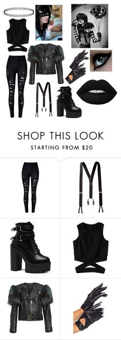"""""""Laughing Jack Gender Bender"""" by ash-the-emo ❤ liked on Polyvore featuring Marc Jacobs and Lime Crime"""