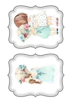 Vintage Scrapbook, Baby Scrapbook, Scrapbook Albums, Printable Pictures, Printable Art, Little Girl Illustrations, Christmas Berries, Baby Painting, Scrapbook Layout Sketches