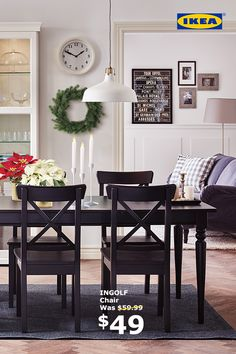 Make a space for everyone at the table this holiday season. The Dining Event is on now until January 1, with 15% off all dining chairs.