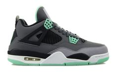 "308497-033 Air Jordan 4 ""Green Glow"" Dark Grey / Green Glow - Cement Grey - Black   $113   http://www.sneakerforsale2014.com/308497-033-air-jordan-4-green-glow-dark-grey-green-glow-cement-grey-black-672.html"