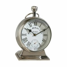 With a wink to the past and a nod to days to come, what's more timely than this pocket watch desk clock? Handsome heirloom looks, high-gauge metals, an updated scale, and an accurate quartz movement give our timepiece substance and style.
