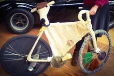 The Woolly Bike Trail: Flat Caps & Whippet -plus a Ferret! Yarn Bombing, Bike Rack, Flat Cap, Bike Trails, Whippet, Ferret, Yorkshire, Pillbox Hat, Bike Storage Rack