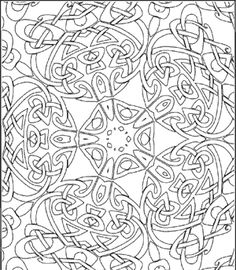 Celtic Kaleidoscope Coloring Page