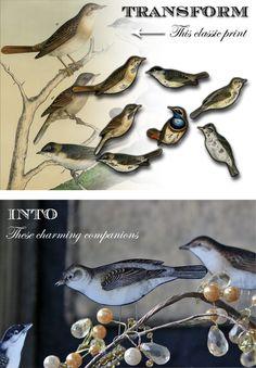 Paper Craft: Perching Birds!