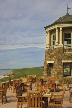 The Ocean Terrace at The Ritz-Carlton, Half Moon Bay: seasonal outdoor dining with an extraordinary backdrop Half Moon Bay, S'mores Bar, Top Destinations, Northern California, Outdoor Dining, Hotels And Resorts, Luxury Travel, Great Places, San Francisco Skyline
