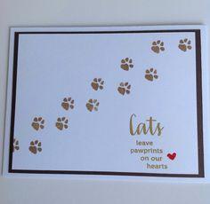 Pet Sympathy Card, Pet Loss Card, Cat Sympathy Card, Handmade Card