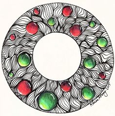 JPG file of a Christmas Wreath with red and green gems (ornaments). Can be used to create your own custom cards and tags.