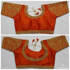 Checkout this latest Blouses Product Name: *Trendy Mulberry Silk Embroidered Blouse* Fabric: Mulberry Silk   Sleeves: Sleeves Are Included   Size: Up to 38 in To 42 in ( Free Size ) Length : Up to 14 in   Type: Stitched   Description: It Has 1 Piece Of Blouse   Work: Embroidery Country of Origin: India Easy Returns Available In Case Of Any Issue   Catalog Rating: ★4 (1848)  Catalog Name: Women's Mulberry Silk Embroidered Readymade Blouse CatalogID_116413 C74-SC1007 Code: 524-981818-2901
