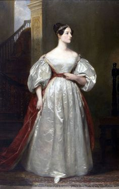 1836 - 'Portrait of Ada Lovelace' by British painter Margaret Sarah Carpenter (British, Salisbury, 1793-1872). Ada Lovelace was a famous English mathematician and writer, daughter of writer Lord Byron.