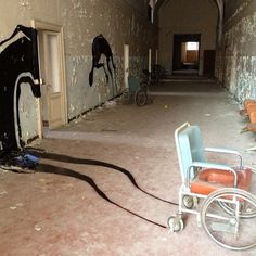 Series of paintings discovered in an abandon mental asylum in Italy.