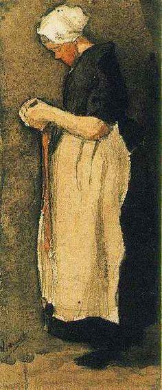 Scheveningen Woman. Etten, Nov-Dec, 1881. Vincent van Gogh: The Watercolours