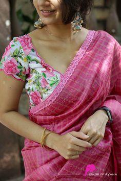 Stylish Blouse Design, Sari Blouse Designs, Fancy Blouse Designs, Trendy Sarees, Stylish Sarees, Traditional Silk Saree, Blouse Models, Saree Look, Clothes For Women