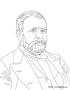 President GENERAL ULYSSES GRANT coloring page