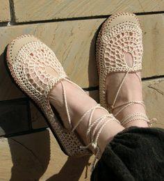 VEGAN Lace up crochet SHOES - Mary Jane - Tan & Beige - CUSTOM made - Hippie boho footwear. $62.00, via Etsy.