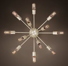 Sputnik Filament Sconce- this may be too large without moving the junction box but wouldn't it be fun! Drapery Hardware, Home Hardware, Nursery Lighting, Storage Mirror, Wall Lights, Ceiling Lights, Glam Room, Sputnik Chandelier, Medicine Cabinet Mirror