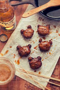 Edible Bears: Meatball bears(Teriyaki meatball bears recipe)