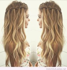 Loop Waterfall Braid | Hair Inspiration | Pinterest | Braid crown ...