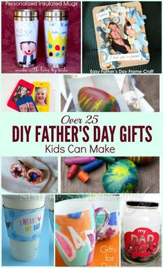 Homemade gifts are a great way for kids to get involved in gift-giving. But not all kid-made gifts are created equal. Help your kids make gifts for dad he can actually use! We've gathered up more than 25 gifts that kids can make AND Dad's will love! www.simplesavingsavvy.net