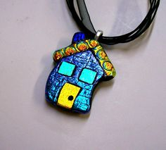 Dichroic Pendant In Fused Glass