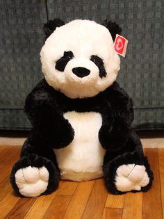 "Large GIANT PANDA Plush 24""+ Stuffed Animal Big Bear EASTER Huge Jumbo"