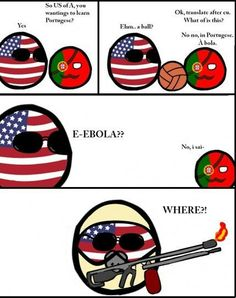 Portugal ball translation and America