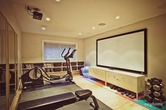 Workout Room...if I had this I really do think I'd work out more!!!