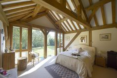 One of the bedrooms in the home, which has four bedrooms in all.
