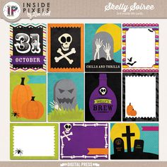 Skelly Soiree ILC 3x4 include 11 cards all 3x4 size
