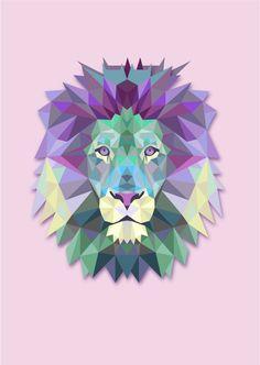 geometric tattoo lion - Pesquisa Google