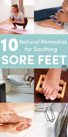 These are the natural remedies for sore feet that I use when my feet could use a little TLC.
