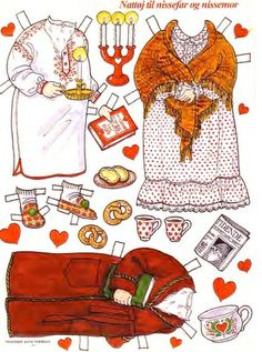 For cuteness sake!   How adorable is this paper doll's printable? They have Santa and Mrs. Claus to go with it... ADORABLe  Remember the old magazines?STILL LOVE PAPER DOLLS and LUCKILY I HAVE A GRANDAUGHTER TO GIVE ME THE EXCUSE..WE PLAYED WITH A SHILEY TEMPLE ONE EARLY THANKSGIVING WHILE I FINALLY GOT DRESSED!.