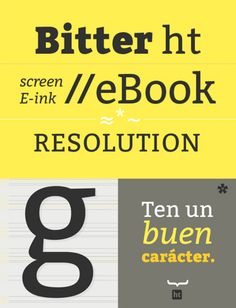 Bitter, a contemporary slab serif typeface designed for text by Sol Matas. Top Free Fonts, Best Free Fonts, Free Fonts Download, Typographic Poster, Typographic Design, Creative Fonts, Cool Fonts, Typography Letters, Lettering