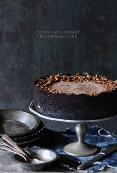 Yum! This Chocolate-Peanut Ice Cream Cake is the perfect summer treat! Get the recipe on Delish Dish: http://www.bhg.com/blogs/delish-dish/2013/06/03/chocolate-peanut-ice-cream-cake/?socsrc=bhgpin060313icecreamcake